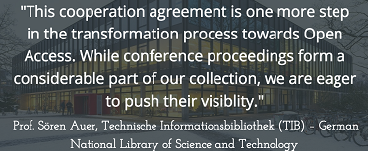 EDP Sciences signs agreement with TIB – German National Library of Science and Technology to publish Open Access conference proceedings