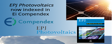 EPJ Photovoltaics now indexed in Ei Compendex
