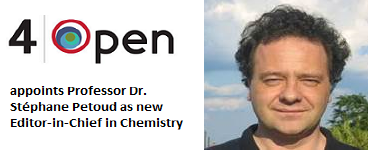 4open appoints Professor Dr. Stéphane Petoud as new Editor-in-Chief, Chemistry - Applied Chemistry